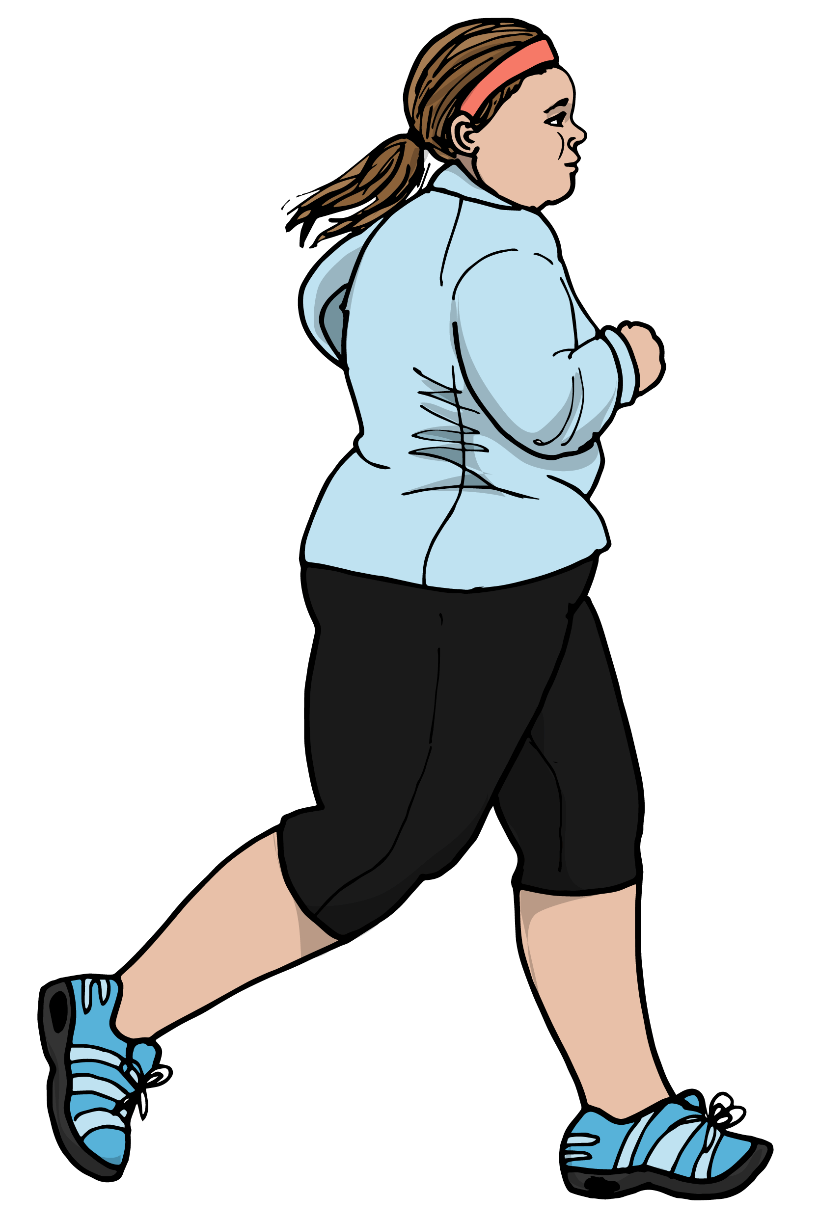 En person som joggar. Illustration.