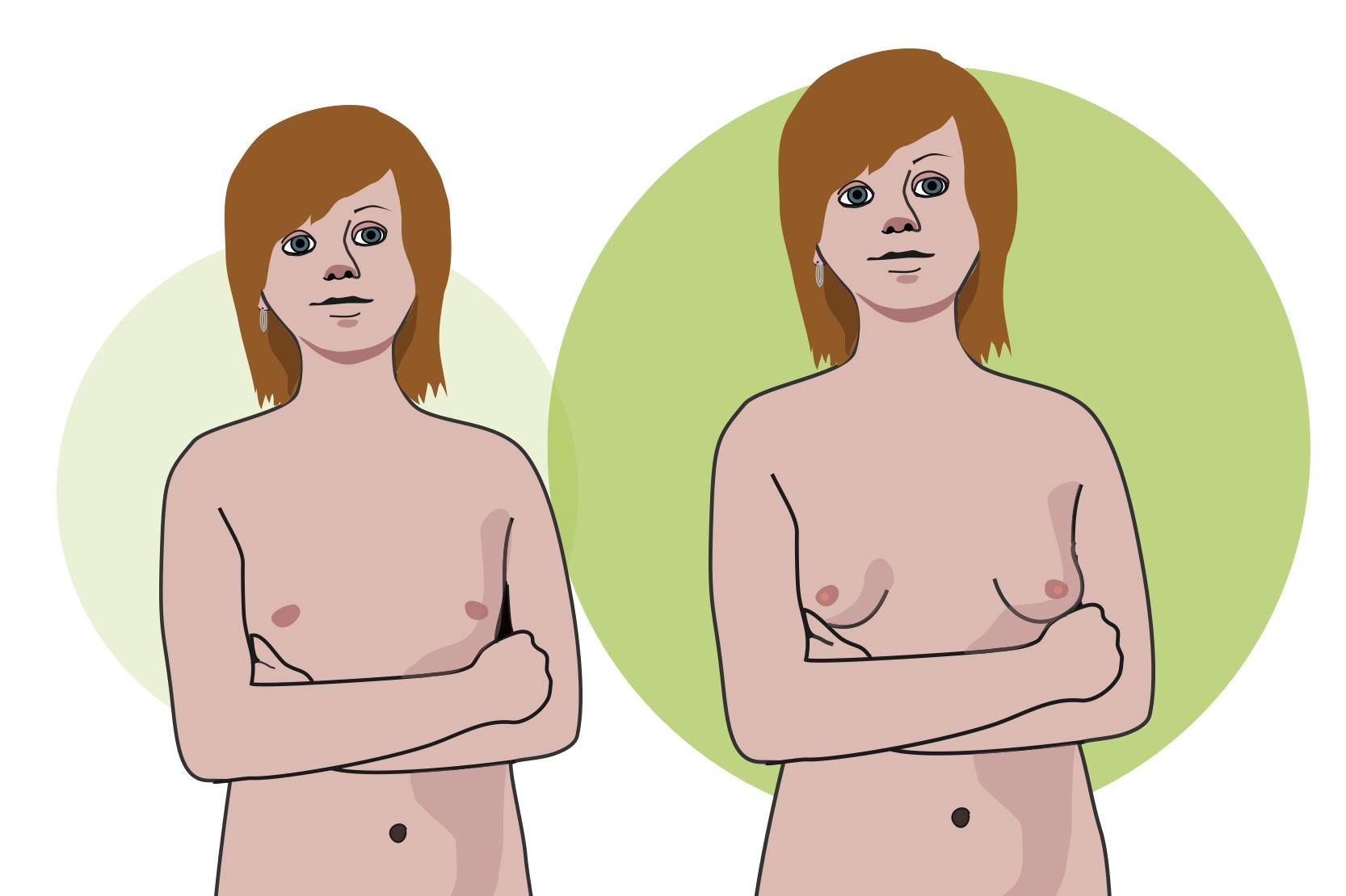 ömma bröst en vecka innan mens